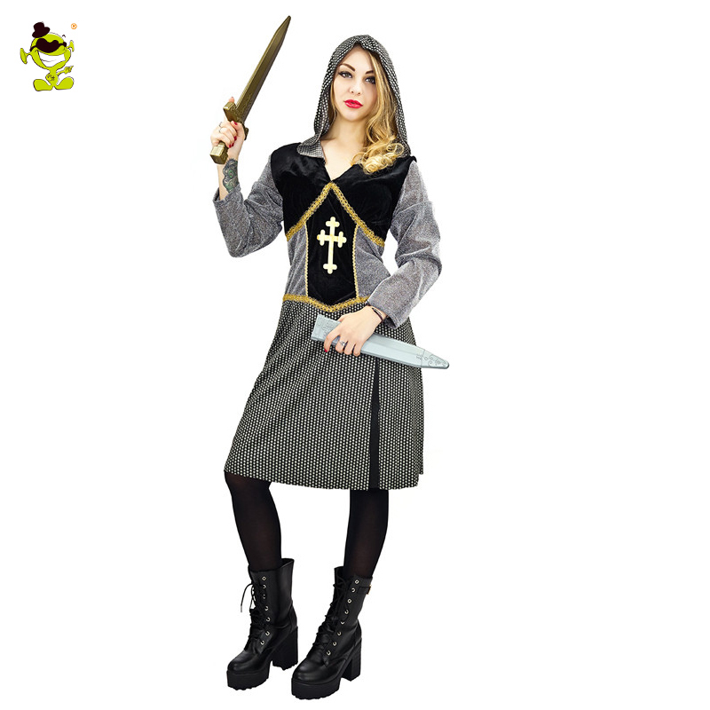 Adult Joan Of Arc Costume Womens Historical Heroine Warrior Cosplay
