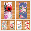 Fashion New Patterns TPU Silicone colored Flowers cover Case For Prestigio Muze D3 PSP3530 DUO 3530 Duo DIY SOFT TPU Phone Cover