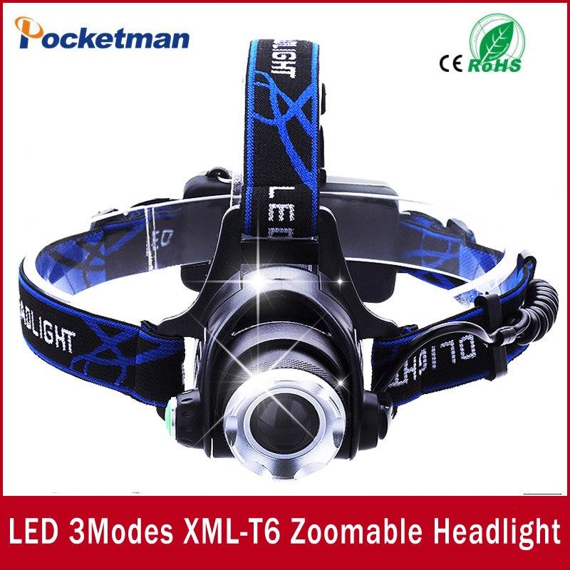 LEVOU Farol T6 levou zoom farol 18650 faróis head lamp 2000lm XML-T6 zoomable lampe frontale LEVOU luz DA BICICLETA