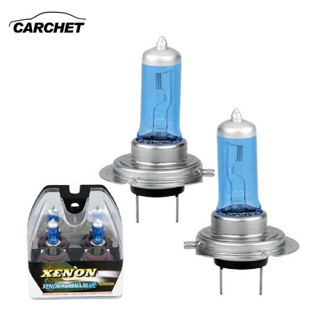 CARCHET 2 pcs Phare Pour Xénon Halogène H7 6000 K 100 W Luminosité Ampoules lampe HID Super Blanc Car Auto lumières Basse et Haute Faisceau