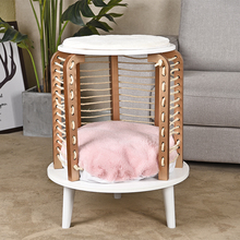 Domestic Distribution Of The Latest Unique Cat Climbing Hollow Furniture Bedside Cabinet Cat kitten Pet Favorite Toys Post Tree-in Furniture & Scratchers from Home & Garden