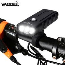 USB Rechargeable 2400 mAH Bike Light Flashlight Night Riding Super Bright Headlights