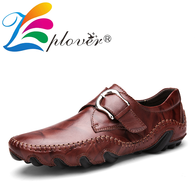 Zplover Brand Fashion Spring Autumn Style Soft Moccasins Men Loafers Genuine Leather Shoes Men Flats Casual Luxury Male Shoes  spring and autumn business casual leather moccasins shoes soft leather soft outsole men s light free shipping