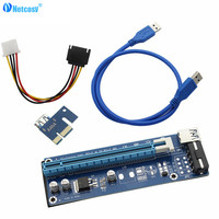 Netcosy 1 комплект USB 3,0 PCI Express 1x к 16x удлинитель адаптер SATA 4 Pin Мощность кабель