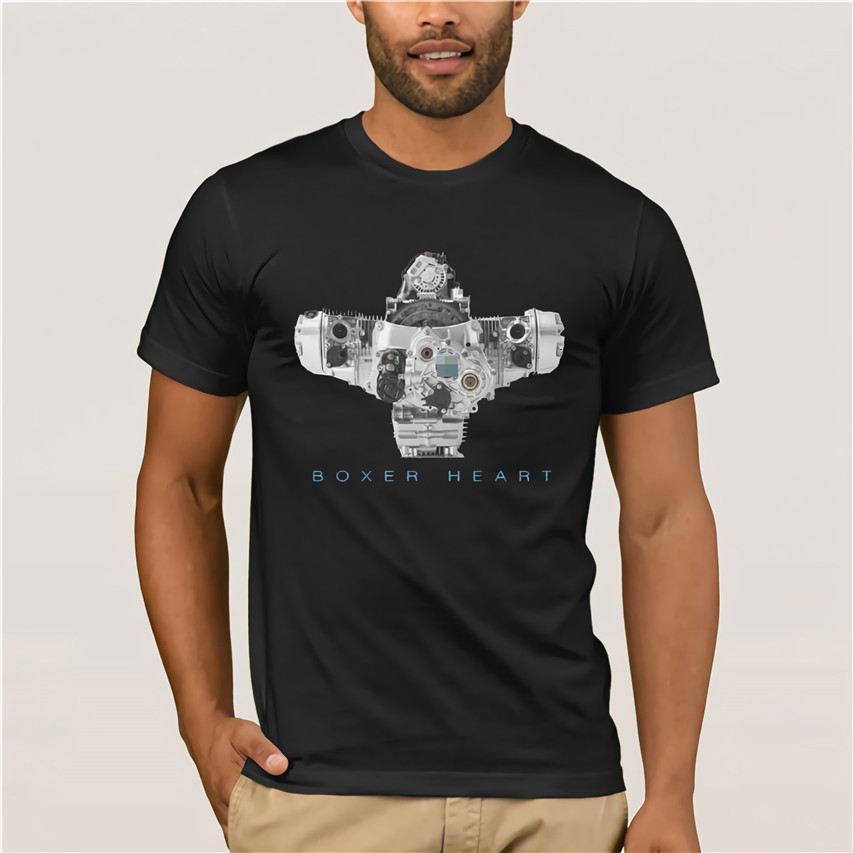 2019 New Summer Cool Tee Shirt Germany Boxer Heart Engine R 1200 <font><b>Gs</b></font> Rt R 1150 <font><b>Gs</b></font> <font><b>Motorrad</b></font> Top Quality Breathable T-shirt image