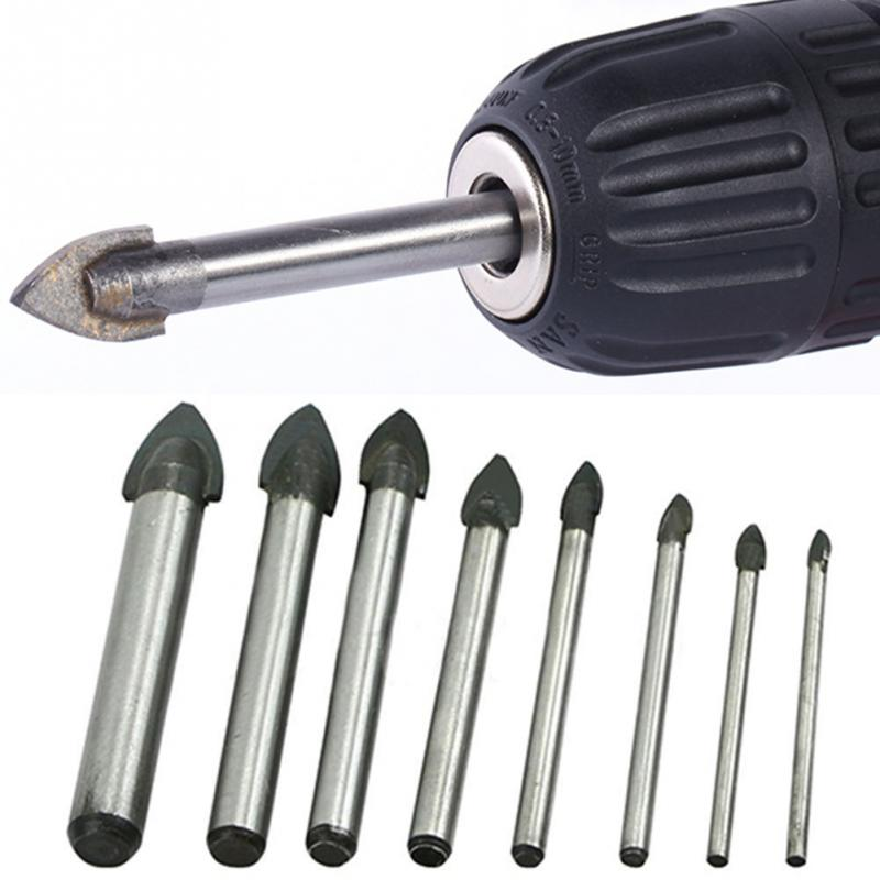Hot Sell 3/4/5/6/8/10/12/14mm Reliable Spear Head Drill Bit Tile Glass Ceramic Marble Mirror Drill Bit Cemented Carbide Tool Bit