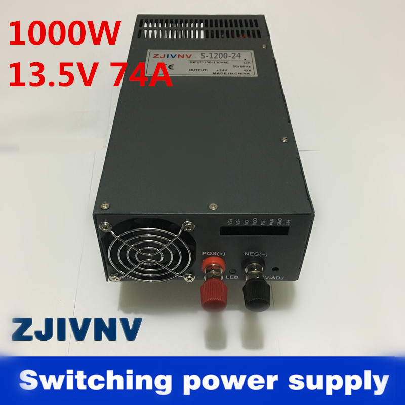 High power 1000w 13.5V 74A switching power supply for LED Strip light AC to DC power suply input 110v or 220v S-1000-13.5 360w 30a switching power supply for led strip light 220v 110v ac input 12v output power suply ac to dc s 360 12