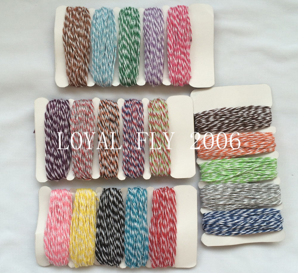 2 cards/lot(total 100meter) thin bakers twine 4ply ,divine twine, thinTwine 10m*5/card used in all kind packing
