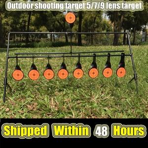 Image 1 - الرماية في الهواء الطلق 5/7/9 إعادة تعيين الهدف الدائري الألوان AirSoft BB الرصاص اطلاق النار الهدف تطبيق الهدف