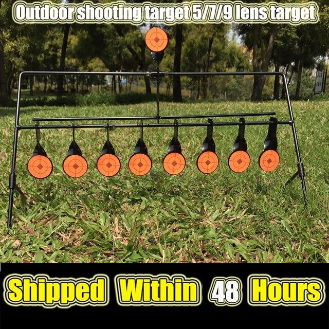الرماية في الهواء الطلق 5/7/9 إعادة تعيين الهدف الدائري الألوان AirSoft BB الرصاص اطلاق النار الهدف تطبيق الهدف