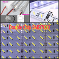 50pcs 100cm Led Bar Double chip SMD 7020 Hard led Rigid Strip Light Waterproof 1m 12V 24V SAMSUNG + U aluminium profile set