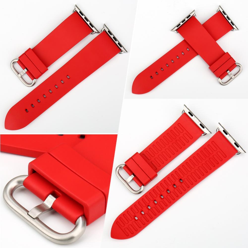 MAIKES Armband für Apple Uhrenarmbänder 42mm 38mm Serie 4 3 2 1 - Uhrenzubehör - Foto 3