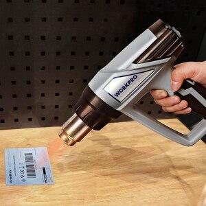 Image 4 - WORKPRO 220V ısı tabancası 2000W ev elektrikli sıcak hava tabancası termoregülatör dijital isı tabancaları LCD ekran