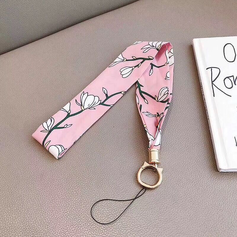 2019 Fashion New Neck Straps Chiffon Wide Lanyards for keys ID Card Gym Mobile Phone Straps USB badge holder DIY Hang Rope in Mobile Phone Straps from Cellphones Telecommunications