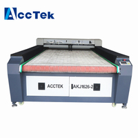 Jinan AccTek wood laser cutter/top quality fabric leather cloth laser cutting machine price