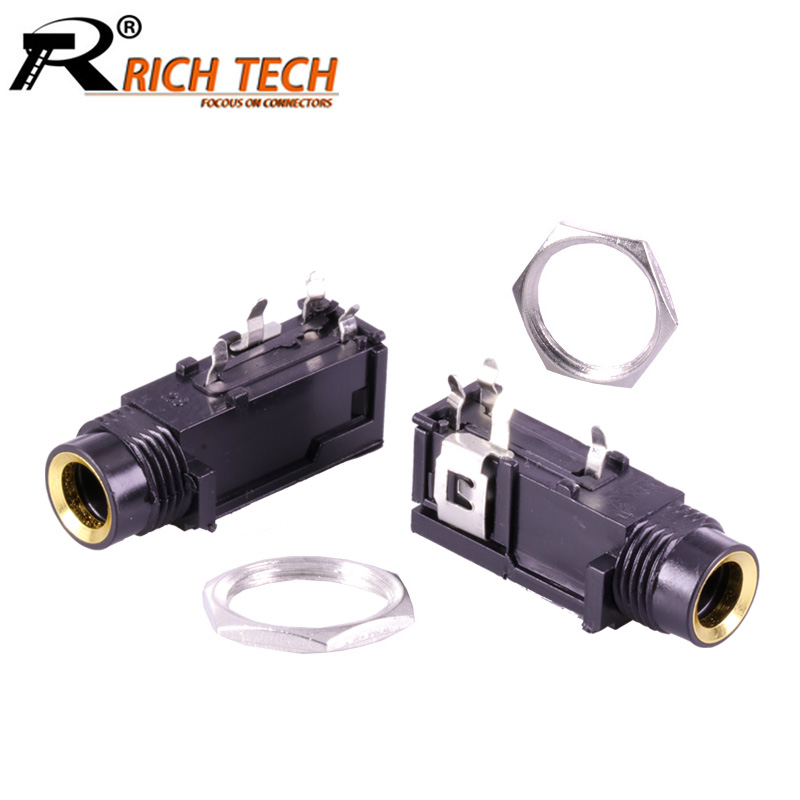 4pcs/lot 6.35mm Stereo Female Jack 4 PINS Feet 6.35mm PCB Panel Mount Microphone Socket Stereo 1/4 Female Connector4pcs/lot 6.35mm Stereo Female Jack 4 PINS Feet 6.35mm PCB Panel Mount Microphone Socket Stereo 1/4 Female Connector