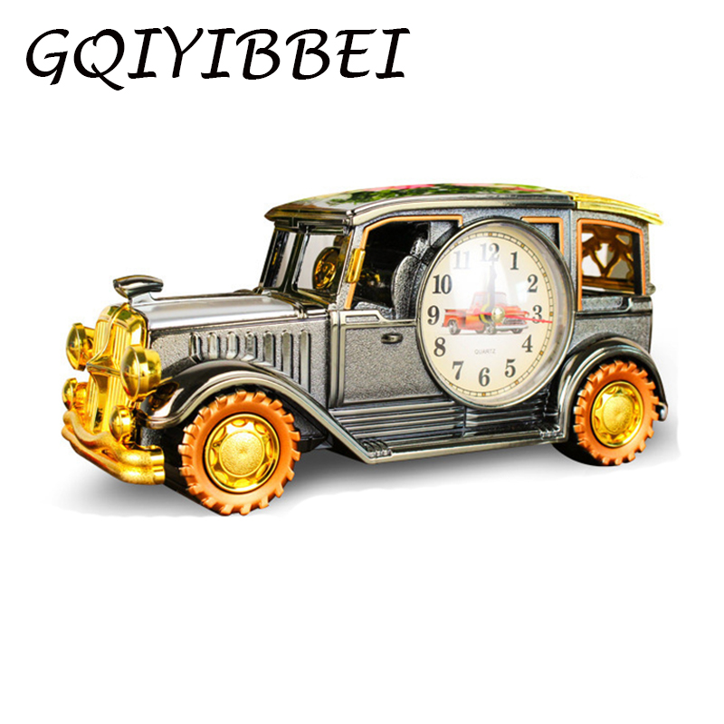 GQIYIBBEI Classic Vintage Car Model Sax Clock Desk Shelf Decoration for Kids Children Birthday Sport Fans Gift Home