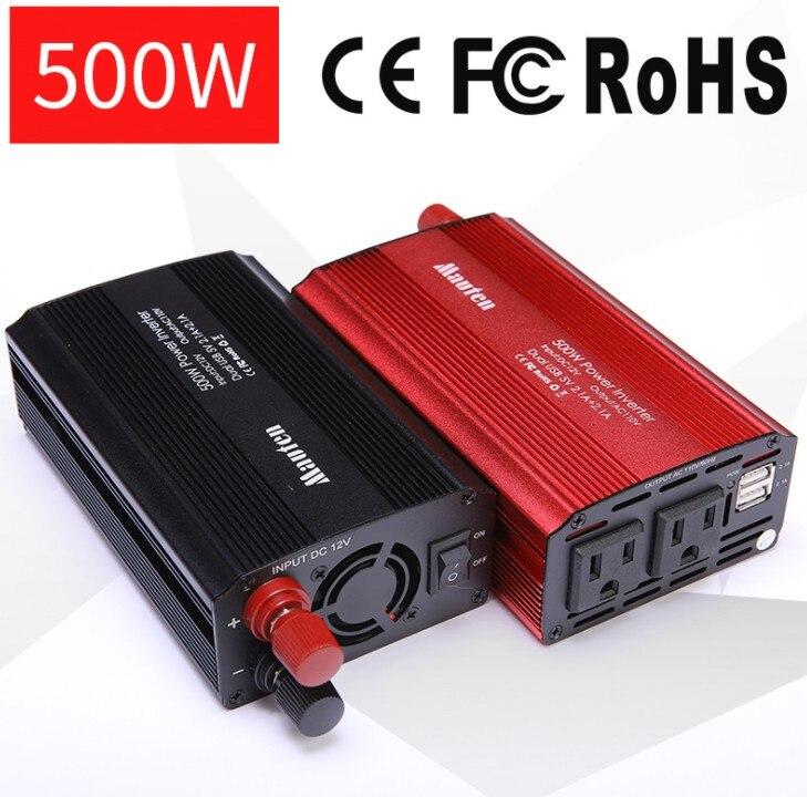 США 500 Вт Инвертор автомобильный инвертор Мощность преобразователь усилитель с USB 4.2A