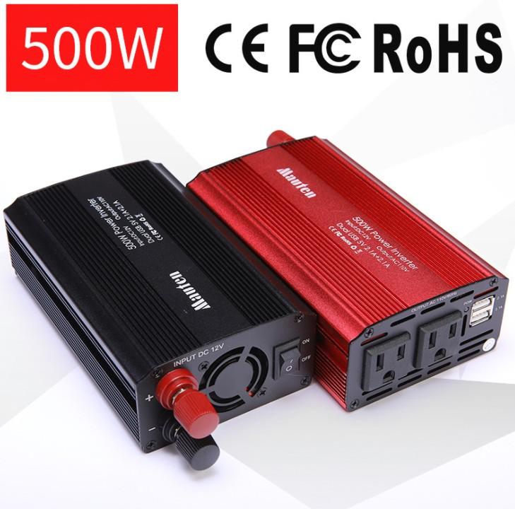 US 500W Inverter Car Inverter Power Converter Booster With USB 4.2A