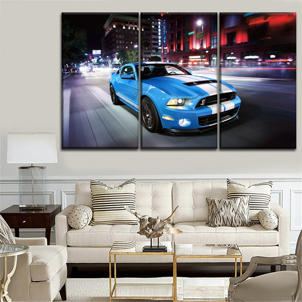 Modern Painting Wall Artwork 1 Piece Muscle Car Ford Mustang Shelby