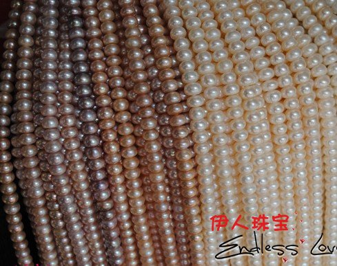 FREE SHIPPING Wholesale 9-10mm Natural Pearl Necklace String, Pearl Strand 38cm Long, 2pcs/lot