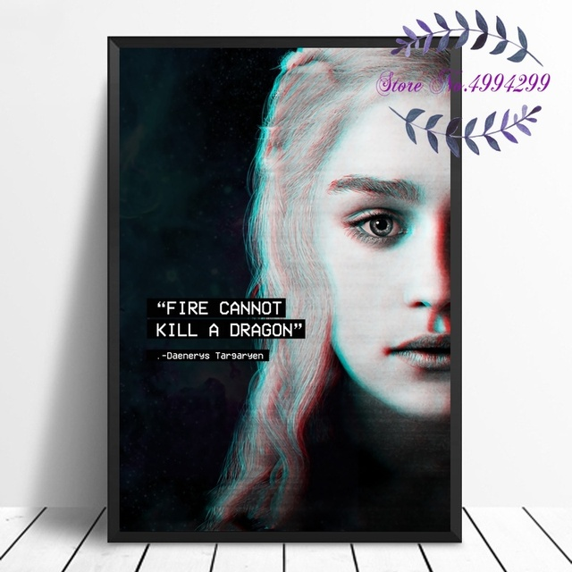 Game of Thrones Movie Art Canvas Poster Print Home Decor No Frame