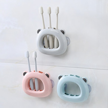 Yooap 3-Color Optional Toothbrush Holder Bear Sucker Toothpaste Organizer Food Grade PP Stand Bathroom Accesories