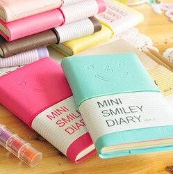 Papel colorido mini sorriso planejadores kawaii diário caderno portátil livro de memória escritório & escola suprimentos presente promoção