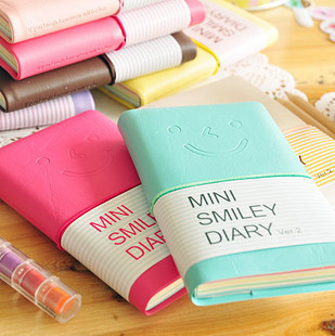 Paper Colorful Mini Smile Planners Kawaii Journal Diary Notebook Portable Memory Book Office & School Supplies Promotion Gift image