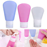 3Pcs Set Travel Refillable Bottles Silicone Skin Care Lotion Shampoo Gel Squeeze Bottle 37/60/89ml Tube Containers Squeeze Kits
