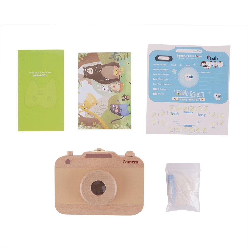 Creative Spanish Wooden Baby Tooth Storage Box Teeth Keepsake Holders Organizer Baby Supplies Dropshipping