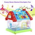 Kid educacional toys plástico musical toys engraçado casa musical piano elétrico luzes das estrelas crianças cedo brinquedo de presente inteligente