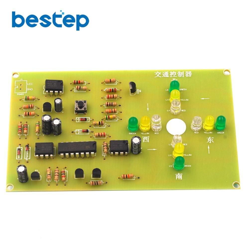 Контроллер светофора электронный DIY Набор электромеханических навыков обучения конкурс навыков