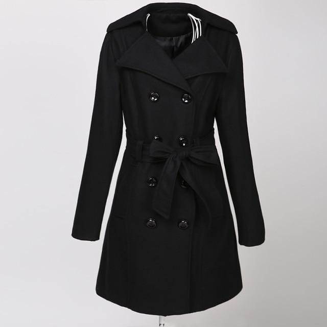 goth negro las ropa mujeres de lana steampunk capa de Mezcla oscuro xOwpqznO