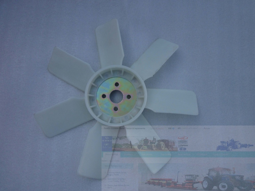 Laidong engine LL380B KM385T KM385BT the cooling fan part number LL380 06300