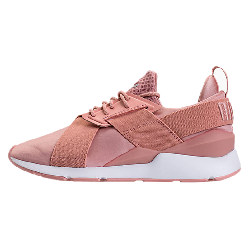 Original Puma Women's Badminton Shoes Muse Satin Ep Womens Sneakers Pink/Black Low top Trainers Breathable Walking Shoes