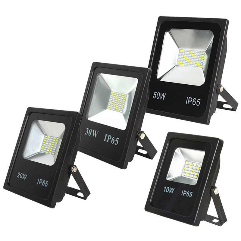 Светодиодный прожектор лампы мощностью 10 Вт, 20 Вт, 30 Вт, 50 Вт датчик движения Pir открытый светоотражатель пятно IP65 Прожекторы Сад настенный светильник AC110V 220 V