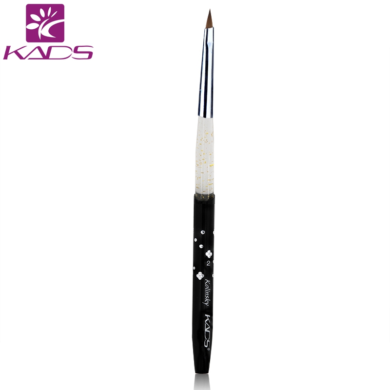 KADS SIZE 2# Black 100% Professional Nail Brush Tool Kolinsky Sable Brush Acrylic Nail Art Brushes Pen+ Free Shipping wholesale 100pc set 100% kolinsky sable brush black nail brush for nail art size 2 acrylic brush best price color black