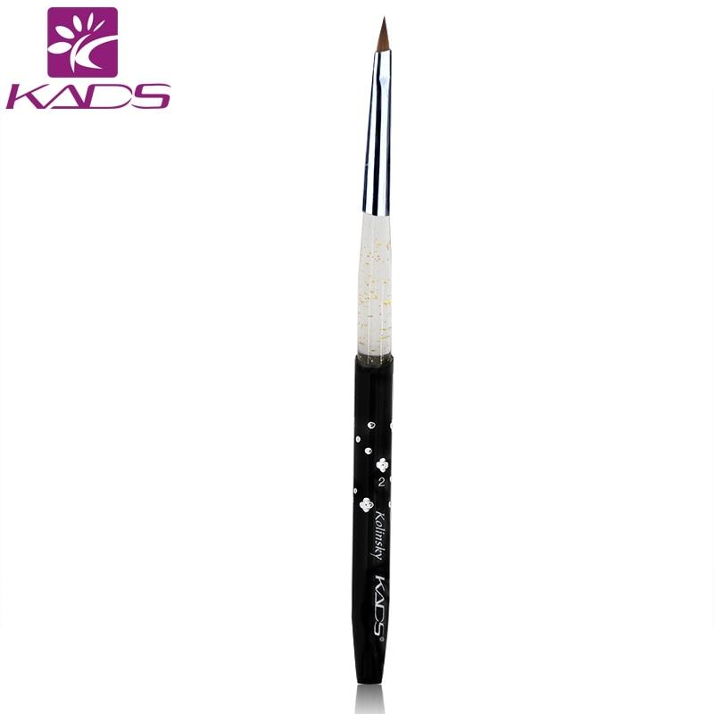 KADS SIZE 2# Black 100% Professional Nail Brush Tool Kolinsky Sable Brush Acrylic Nail Art Brushes Pen+ Free Shipping