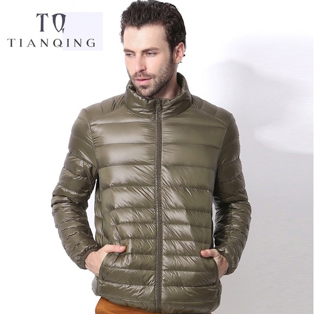2018 New Men Autumn Winter Ultralight Men 90% White Duck Down Jacket Winter Duck Down Coat Waterproof Down Parkas Outerwear