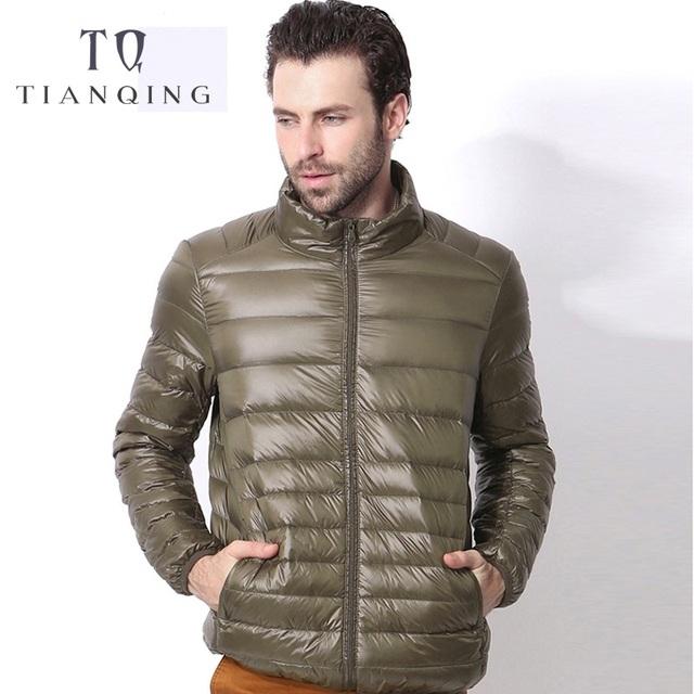2018 New Men Autumn Winter Ultralight Men 90% White Duck Down Jacket Winter Duck Down Coat Waterproof Down Parkas Outerwear