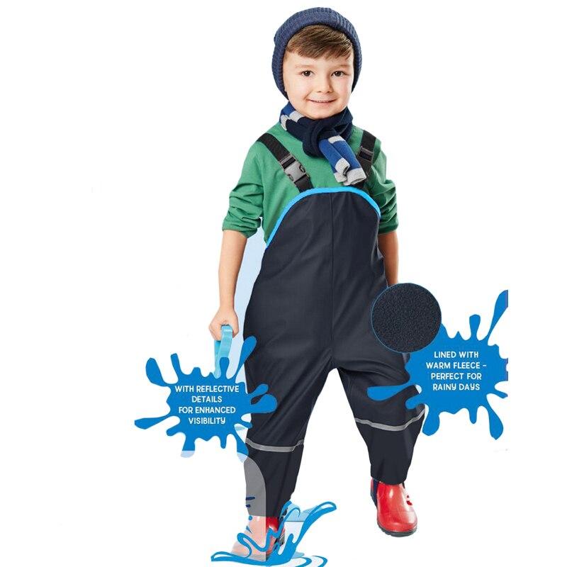 Children Waterproof Rain Pants New 2019 Brand Waterproof Overalls 1-7Yrs Baby Boys Girls Overalls Fashion Kids Overalls