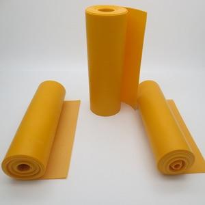 Image 2 - GZK China good quality roll rubber orange color flat rubber bands 200cm*15cm*0.66mm 0.72mm 0.8mm   for DIY slingshot huinting