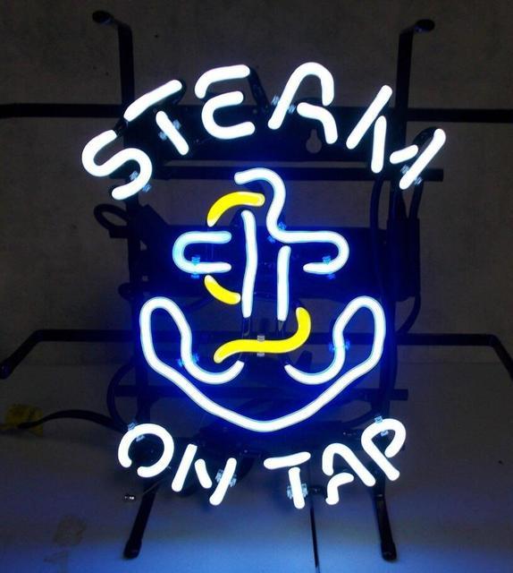 Custom Steam ontap Glass Neon Light Sign Beer Bar