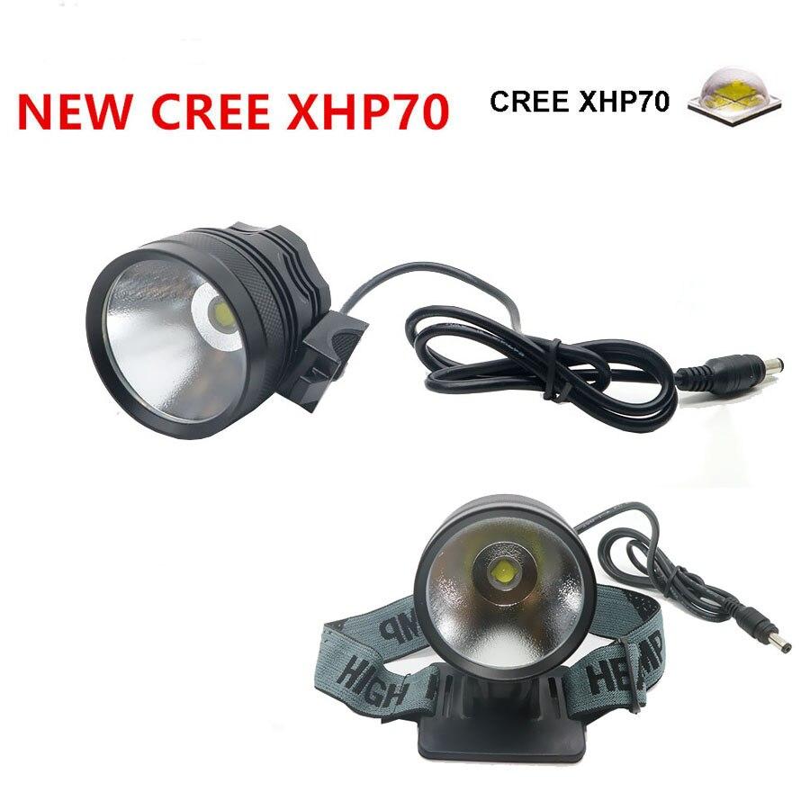 Nouvelle lampe Frontale USB Charge 4000 Lumens headllight CREE XHP70 vélo lumière Vélo Lumière lampe phare lampe