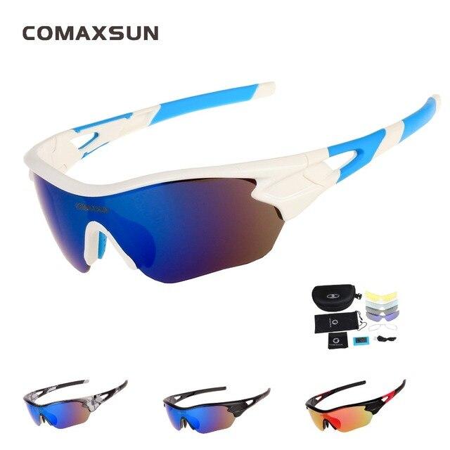 c027d09628 COMAXSUN profesional polarizado ciclismo gafas de sol deportes Bike  bicicleta UV 400 con 5 lente 4
