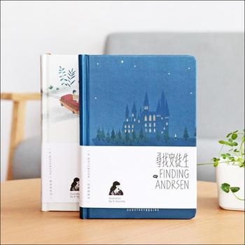 Finding Andersen Hard Cover Notebook Blank Art Drawing Papers Journal Study Diary Notepad Stationery Gift be happy hard cover notebook lined papers journal study diary notepad stationery gift black color