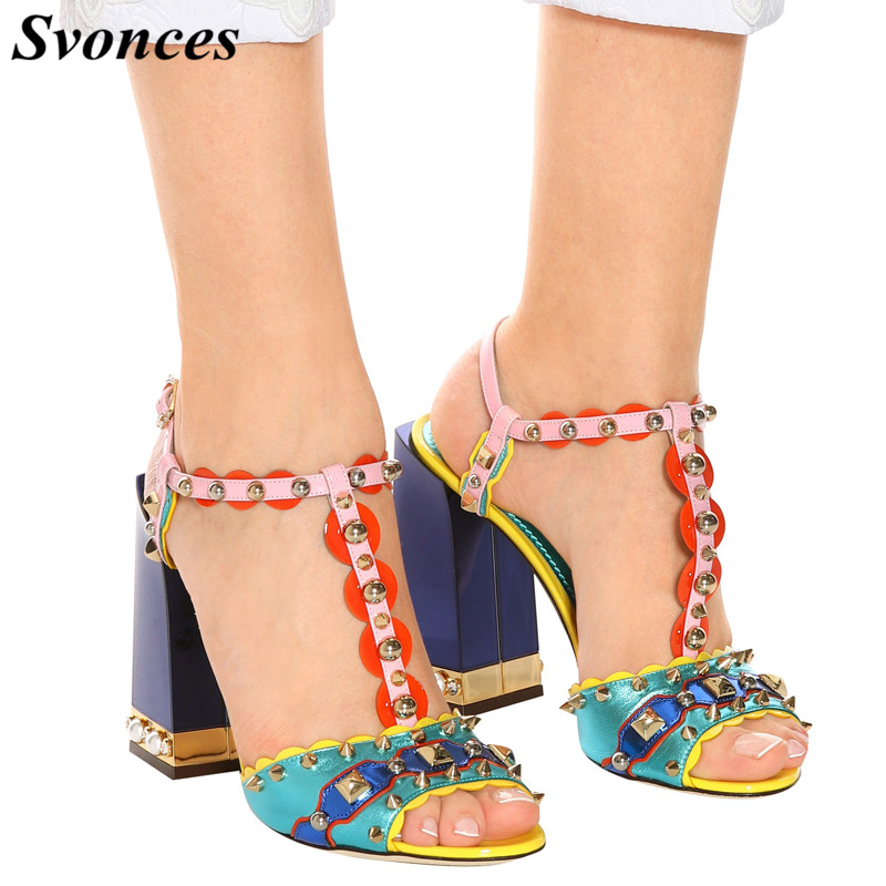 1ac2e424d2a Buy stud sandals block heel and get free shipping on AliExpress.com