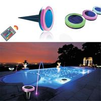 RGB Solar Swimming Pool LED Lights Outdoor Pool Hotel Fountain Light IP68 Waterproof Solar Floating Lights With Remote Control