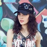 Korean Summer Female Baseball Caps Women S Hats Bone Snapback Caps With Flowers Fashion Black Baseball